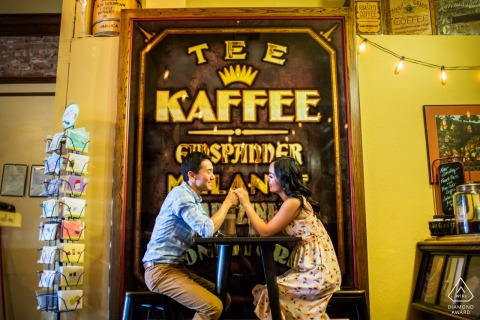 Los Gatos couple enjoy time at a cafe