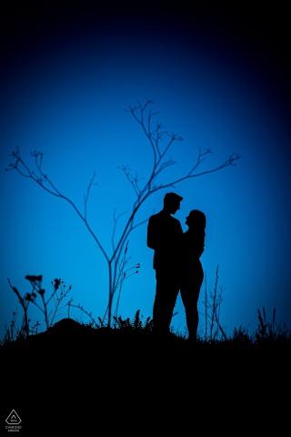 Malhostovicka pecka pre wedding couple portrait in blue at the Little big tree
