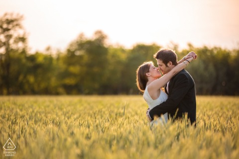 Udine, Italy engagement image with Tenderness in the field