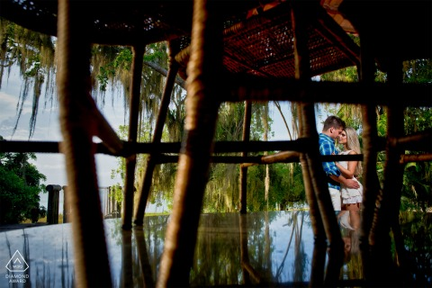 Linhares engagement portrait session of couple in Brazil