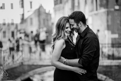 Venice, Italy pre-wedding portrait photo session with tons of love and Smiles