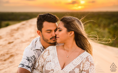 Piaçabuçu, Alagoas sunshine, light of love during a pre-wedding portrait session