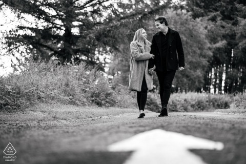 England Beacon fell walking couple engagement shoot - Love is captured by a Manchester Wedding Photographer