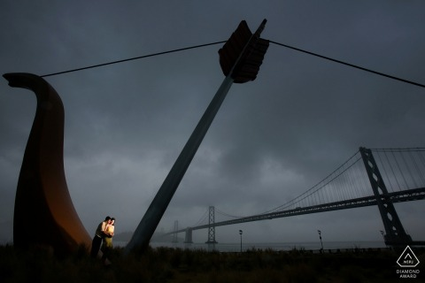Love portraits at Cupid Span in San Francisco, California for engagement images