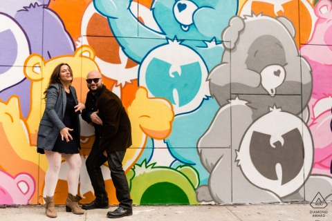 SoHo, New York City Wu Tang Care Bears engagement photography