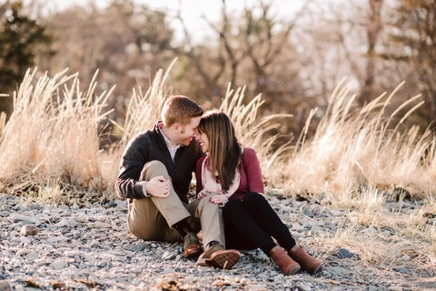 Odiorne State Parkengagement couple photoshoot session with So much love