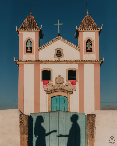 Lavras Novas, Brazil shadows of lovers with a symmetrical composition