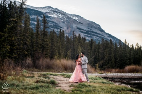 Canmore, AB, Canada engagement session in the mountains