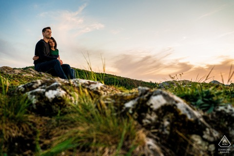 Malhostovicka pecka mountain portraits for a couple in the evening