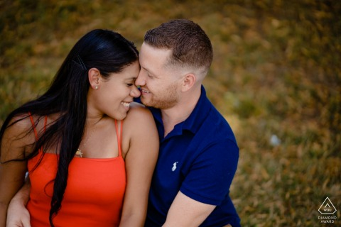 Intimate Engagement photo shoot at Billings Field in Boston, MA