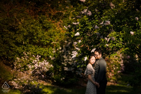 New England Engagement Photography at Arnold Arboretum in Boston, MA
