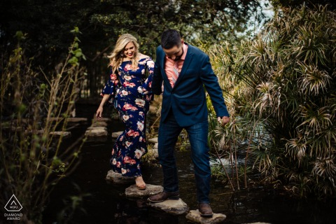 Engagement Session at Zilker Botanical Gardens