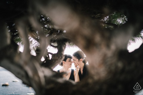 Positano Engagement Photo Shoot at the beach