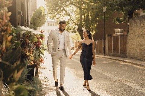 UK urban street walking engagement portraits in London