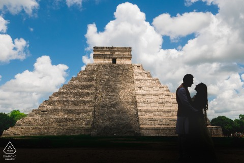 Chitzen Itza, Mexico Love engagement shot on a point and shoot as professional gear wasn't allowed on site