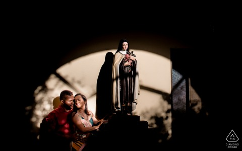 Maceió, Alagoas engagement portrait with the theme of Faith