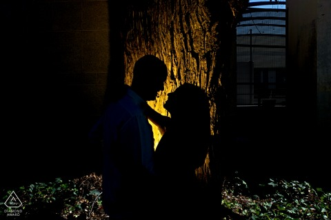 Jaén, Spain engagement portraits outdoor in the dark and backlit