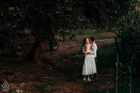 Bursa couple engagement portrait session In the woods