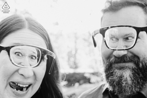 Virginia engagement photo shoot at Great Falls National Park with a cool, Nerdy & yet goofy couple...so much fun