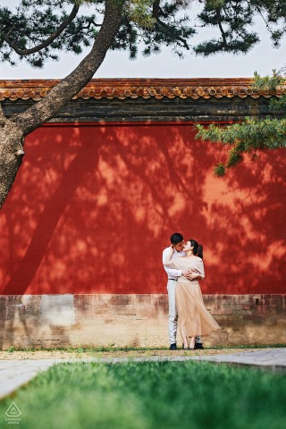 China engagement photo shoot at the Forbidden City