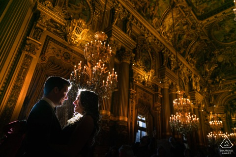 France engagement photoshoot & pre-wedding session from a beautiful building in Paris