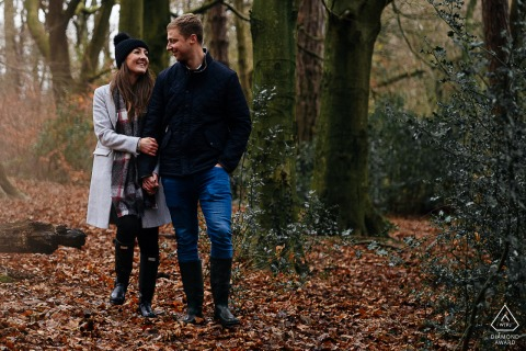 England engagement photoshoot & pre-wedding session at Rivington Pike with some fall, Autumn Love