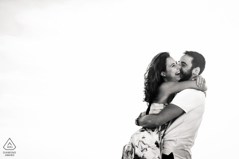 FR pre wedding portrait session with engaged lovers from Montpellier France - a lovely Couple on the beach