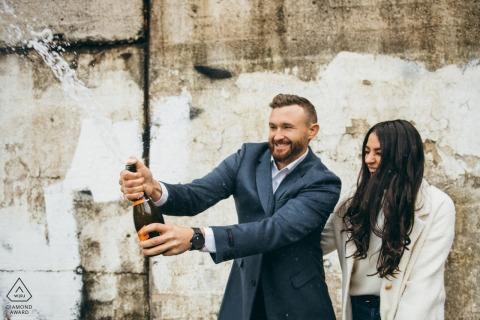 Kinzie Street Bridge Chicago Champagner Spray vorverheiratetes Bild