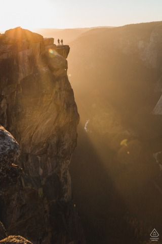 Taft Point adventure engagement session in Yosemite National Park