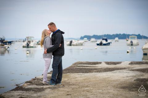 La Trinité sur Mer - Britanny Foggy fotografeert voor een artistiek verlovingsportret