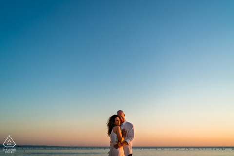 Portopiccolo, Trieste, Italy Sunset love engagement pre-wed photo session