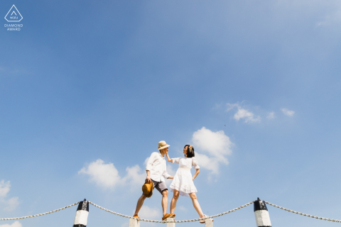 MacRitchie Reservoir, Singapore pre-wed portrait photography - If the hat fits, wear it.