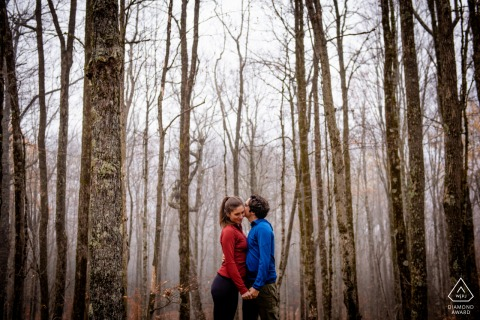 Dolly Sods - West Virginia pre-wed picture session on a Foggy afternoon in the woods