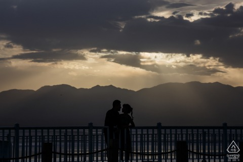 Qinghai micro outdoor mountain photo session before the wedding day with some Love in light and shadows