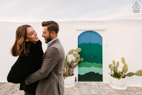 Sesión de retrato de boda previa a Puglia