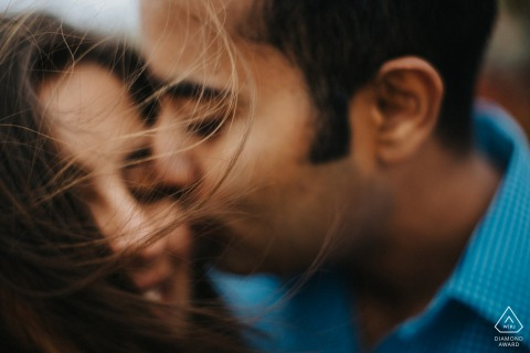Asilomar State Beach intimate couple portrait