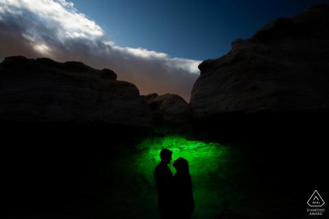 The Paint Mines, Calhan ha illuminato il ritratto in questo canyon oscurato