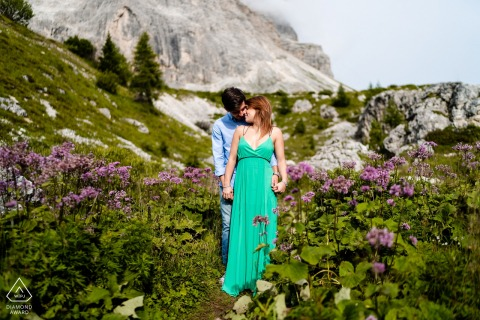 Dolomites pre - wed image created while Into the green below the mountain cliffs