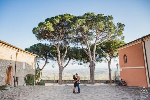 Rimini Pre Wedding Photoshoot in a Fine Art Style in a churchyard