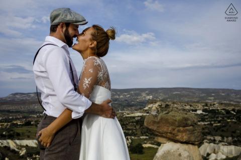 Cappadocia Fine Art Pre Wedding Portrait high above Turkey