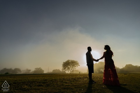 Boituva Pre Wedding Photoshoot for a sunset couple portrait