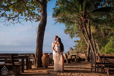 Prainha Artful Engagement Picture in Rio de Janeiro for a Couple feeling the sun