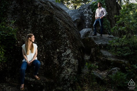 El Escorial, Madrid Artful Engagement Photo avec 2 flashs pour basculer un double portrait