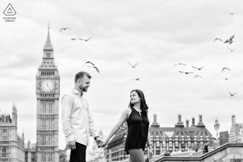 London environmental engagement e-session with Big Ben in the background