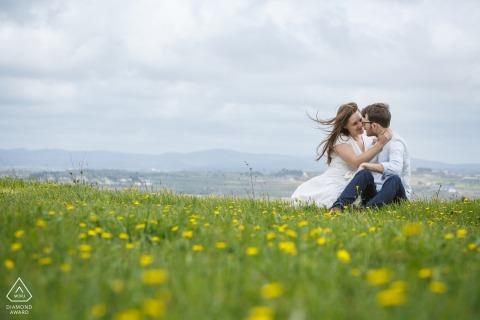 France on-location portrait e-shoot in a field of dreams