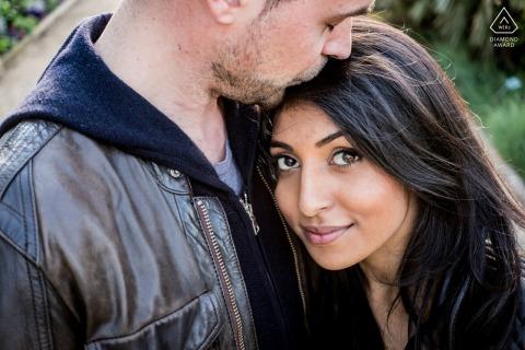 Paris environmental engagement e-session of romantic couple