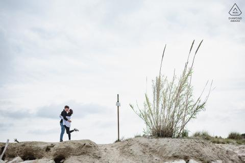 Seawood Natura Reserve, Ravenna retrato en el lugar e-shoot con un divertido beso