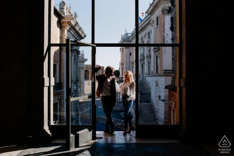 Sesión electrónica de retratos de Roma en el capitolio