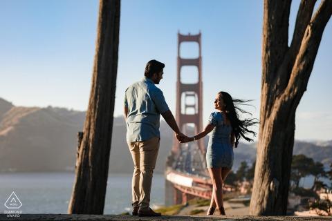 Overlook View Point, San Francisco, CA, retrato en el lugar, e-shoot en la cima de la cadena
