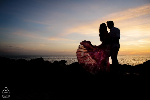 Fort Zach State Park portrait e-session under the Key West sunset at the beach
